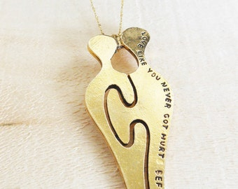 Love like you never got hurt before necklace.