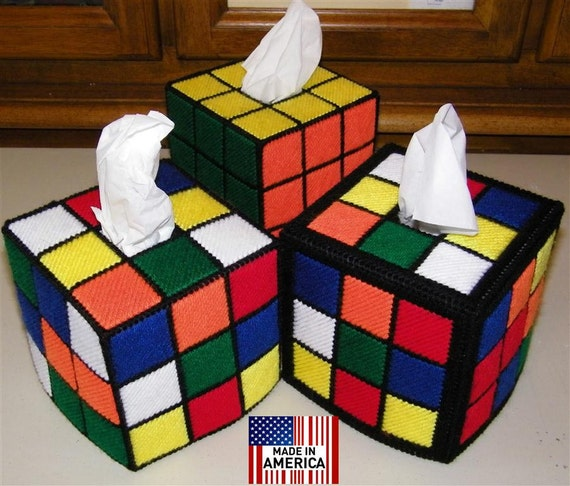 items similar to rubik 39 s rubiks rubix rubic cube tissue. Black Bedroom Furniture Sets. Home Design Ideas