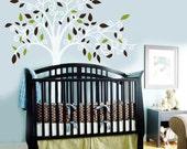 Vinyl Wall Decal Sticker Curl Tree Boy or Girl Baby Child Nursery Vinyl Wall Decal