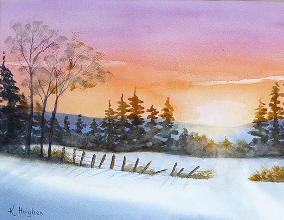"SALE!!  Original vivid Watercolor painting ""Shine Your Light"" on 12 x 16 watercolor paper.  Wall Art Home decor art."