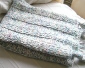 "Soft and Fluffy Baby Blanket with Tassels -- ""Promise of Spring"" -- Unisex"