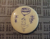 Pooh For President 1960s pinback button
