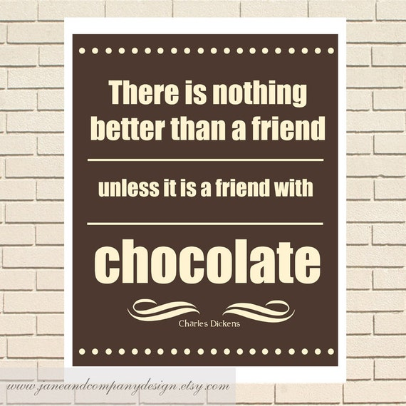 A Friend With Chocolate Charles Dickens By