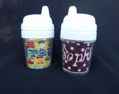 Personalized Sippy Cup 5 oz - Choose Your Fabric