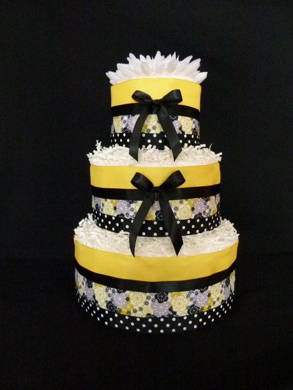 Black Bumble Bee >> Items similar to 3 Tier Yellow and Black Bumble Bee Baby ...