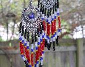 Native Style Beaded Chevron Earrings