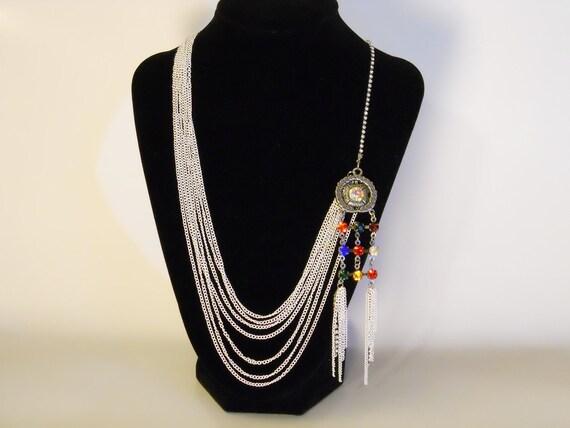 White Multi Chain Necklace