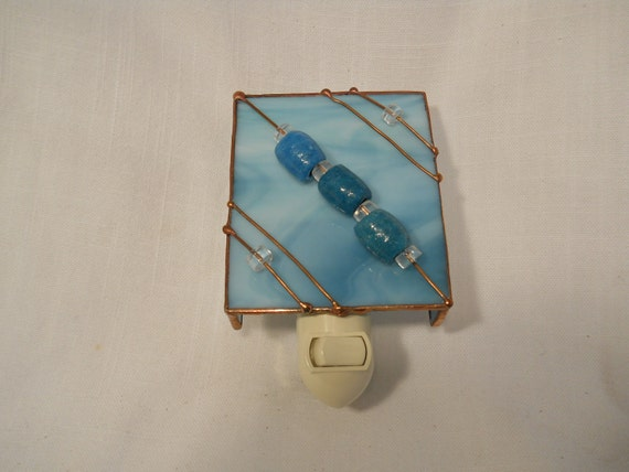 Night Light Blue Stained Glass