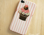Pink Cupcake iPhone 4S case / iPhone 4S case