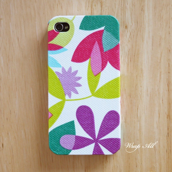 Flower graphic iPhone 4 case / iPhone 4s case/  iPhone 4s / iPhone cover