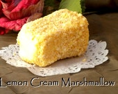 Refreshly Sweet Handmade Gourmet Lemon Cream Marshmallow