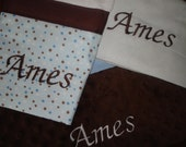 Personalized Burp Coths for Baby Boy