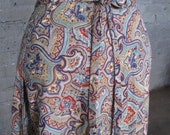 Vintage 70's Wrap Skirt with Paisley Print