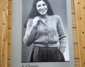 Vintage Janice Straker knitting pattern: Women's cardigan in sportsweight yarn
