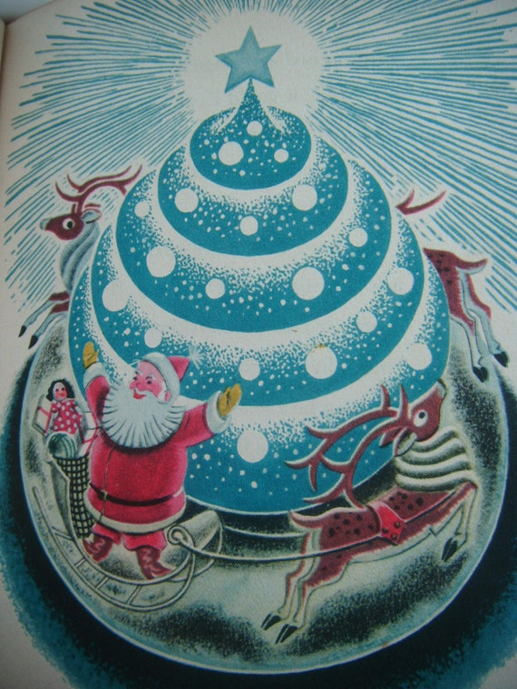 Vintage hardback children's book, 'Christmas Magic' by James Tippet, signed copy