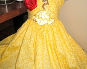 Belle-- Gorgeous and Simple Knot twirl dress--6m to 8y