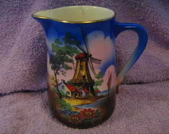 Hand Painted Milk Pitcher   Made In England