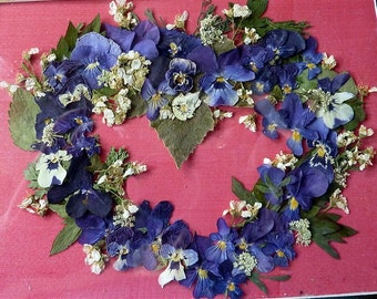 Pressed flower heart 2