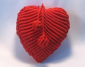 """Red macrame purse """"The Heart"""""""