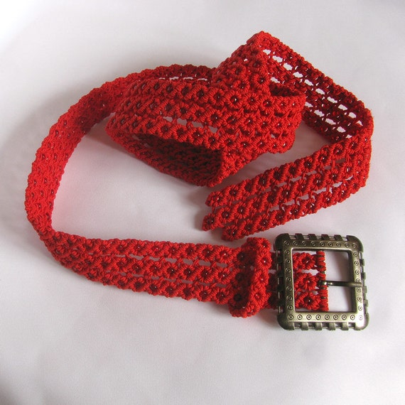 macrame belts items similar to macrame belt quot rowan quot handmade woven 9802