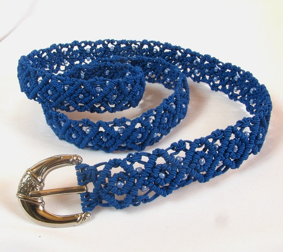 macrame belts items similar to macrame belt quot cornflower quot beaded 583