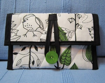 Kindle Case - Kindle Cover - Kobo - Nook - Ebook Reader - Tablet - iPad - Padded - Quilted - Birds