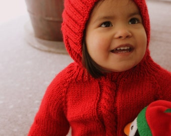 Adorable, hand-made baby sweater