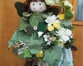 Country Irish Angel Hanging Basket