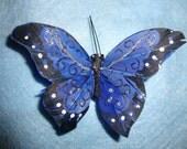 Beautiful Blue Butterfly Hair Clip