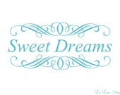 Vinyl Wall Decal Sweet DreamS Decal Nursery Wall Decal Childrens Wall Decals