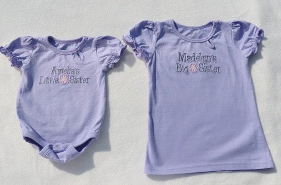 Custom Order Big Sister Little sister shirts