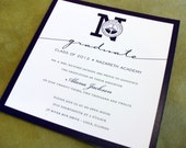 Graduation Announcements | Formal | Customized with your School Colors, Logo, and Any Wording!
