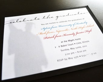 Multiple Child Graduation Invitation