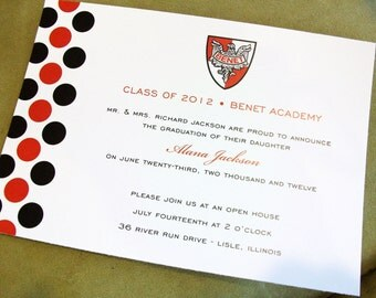 Graduation Announcements | Customized with your School Colors, Logo, and Any Wording!