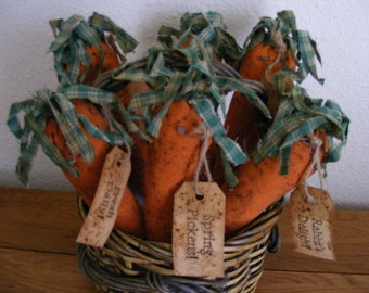 Rag Top Carrots - E-Pattern - Bowl Ornies