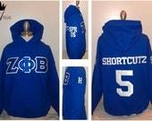 Custom Crossing Hoodie - Sorority/Fraternity Greek Letter Sweatshirts