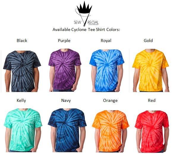 letter cyclone tie dye tshirt by sewregal on etsy
