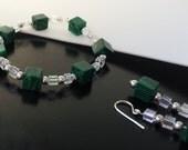 Malachite and Crystal Bracelet