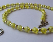 Yellow and Silver Necklace