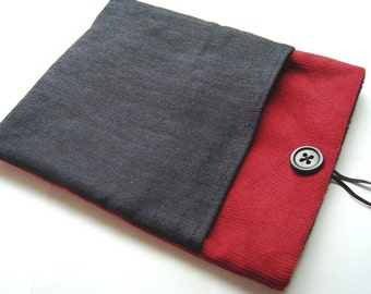 iPad case, iPad sleeve,  iPad cover, iPad pouch/cozy in corduroy and denim
