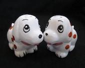 Cute polka dot puppy dog Salt and Pepper shakers pair of puppy dog Salt and Pepper set puppy love Salt and pepper animal Salt and Pepper