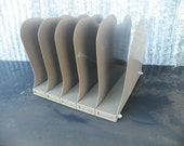Vintage Industrial Office File Divider Organize Storage Tanker 1950 Retro Office
