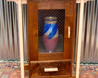 Black Walnut & Ash Display Cabinet