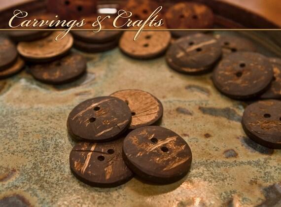 Four Medium-sized Coconut Buttons
