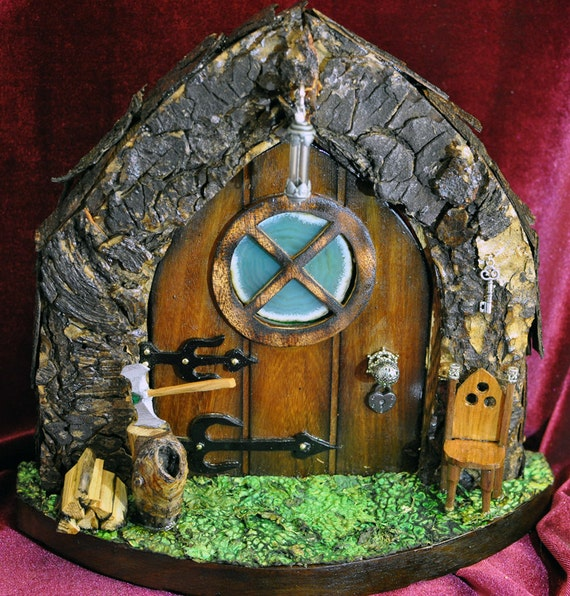 Wood Gnome King Fairy Door