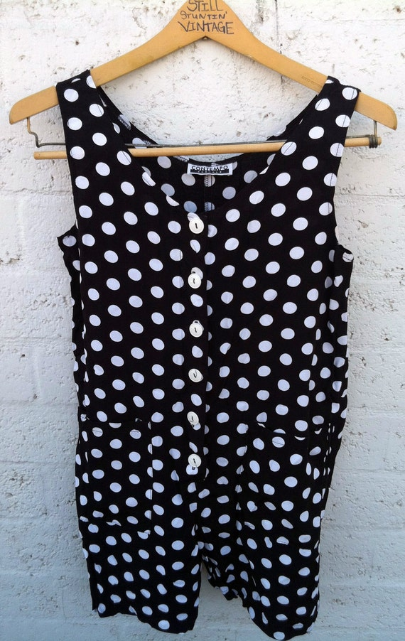 Contempo Casuals Polka Dot Romper