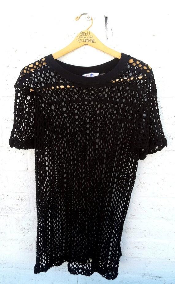 Nuthin' But Net Oversized Shirt/Mini Dress