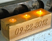 Engraved Wood Block Table Decoration Centerpiece -  Wedding Keepsake