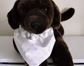 Pet Bandana Pastel Polka Dots Size Medium Pet Scarf Pet Collar Cover