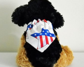 4th of July Pet Bandana  With Stars and Stripes Size Small